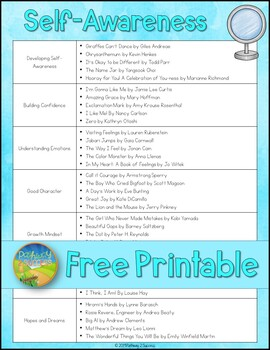 Social Emotional Learning Read Aloud List