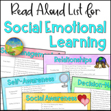 Social Emotional Learning Read Aloud List - Distance Learning