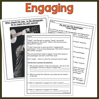 Social Emotional Learning - SELF CONTROL Lesson Plans + Writing Activities