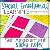 Social Emotional Learning Self Assessment - Sticky Notes - Upper Grades