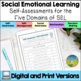 Social Emotional Learning Self-Assessments - Print & Google Slides