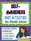 Social Emotional Learning - Self-Awareness Unit Activities for Middle School