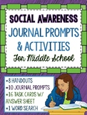 Social Emotional Learning - Social Awareness Unit Activities for Middle School