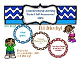 Social Emotional Learning Student Self Assessment Cards Posters Signs