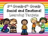 Social Emotional Learning Targets 3-6