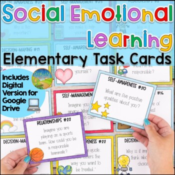 Social Emotional Learning Task Cards for Elementary