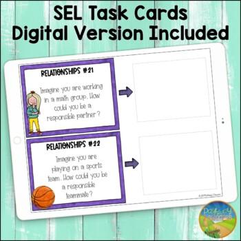 Social Emotional Learning Task Cards for Elementary