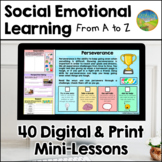 Social Emotional Learning Workbook from A to Z - Distance