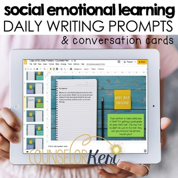 Social Emotional Learning SEL Writing Prompts & Conversation Starters