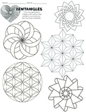 Social-Emotional Mindfulness Activity with Geometric Zentangles & Line Patterns