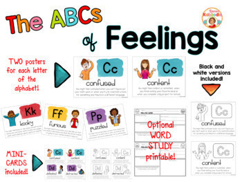 Social Emotional Posters BUNDLE - The ABCs of...