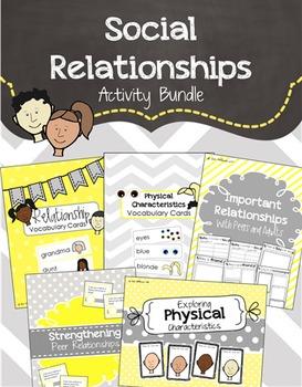 Social Emotional Relationships Activity Bundle