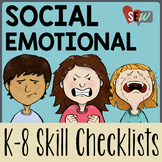 Editable K-8 Social Emotional Learning Checklists. 120 Pages
