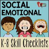 Editable K-8 Social Emotional Learning Checklists