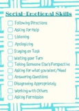 Social-Emotional Skills Worksheet