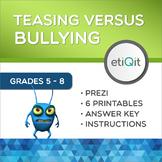 Bullying Versus Teasing Middle School Mini-Unit | Prezi & Printable Activities