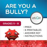 Bullying Behaviors Middle School Mini-Unit | Prezi & Printable Activities