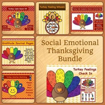 Social Emotional Thanksgiving Bundle