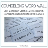 Social Emotional School Counseling Word Wall