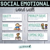 Social Emotional Word Wall | SEL Vocabulary | Social Emotional Vocabulary