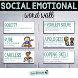 Social Emotional Word Wall | SEL Vocabulary | Social Emotional Vocabulary