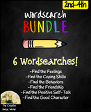 Social/Emotional Wordsearch Bundle 2nd-4th: Feelings, Frie