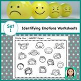 Social Emotional Worksheets Set 1: Identifying Feelings