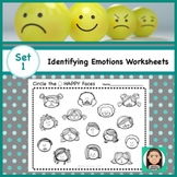 Social Emotional Worksheets Set 1: Identifying Feelings