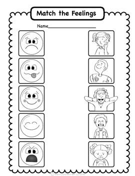 Social Emotional Worksheets Set 2: Identifying Feelings by ...
