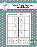 Social Emotional Worksheets Set 2:  Identifying Feelings