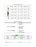 Social Emotional Worksheets, matching, multiple choice