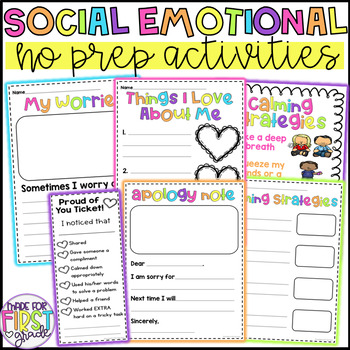 Social Emotional Learning Activities: No Prep