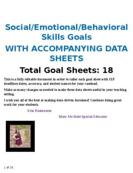 social emotional iep goal bank