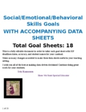 Social-Emotional and Behavior Goal Bank with Accompanying Goal Sheets