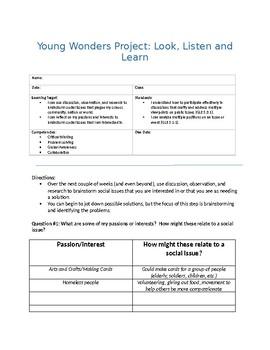 Social Entrepreneurship - Young Wonders Project