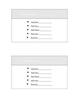 Social Etiquette Cards