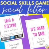 Social Skills Game Social Filter Elementary Counseling Game