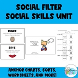 Social Filter   Say vs. Think   Social Skills Lesson   Soc