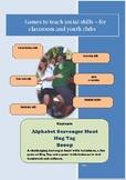 Social Games for Kids - Alphabet Scavenger Hunt, Hug Tag and Boop