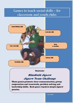 Social Games for Kids - Blindfold and Jigsaw Team Challenge