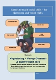 Social Games for Kids - Negotiating – Group Gestures and A