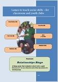 Social Games for Kids - Relationships Bingo