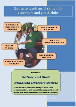 Social Games for Kids - Slither and Slide Blindfold Obstacle Course