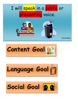 Social Goals for Elementary Students
