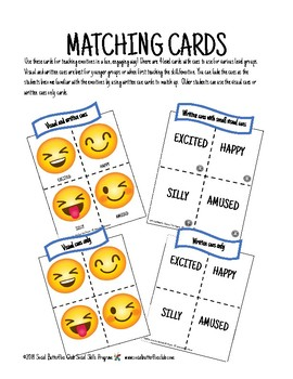 Social Group Game Play-Emoji Emotions Match Up
