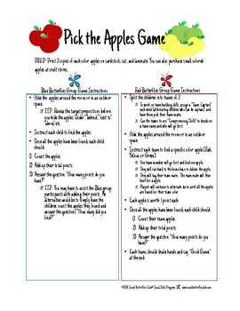 "Social Group Game Play- ""Pick the Apple"""