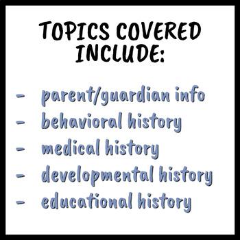 Social History Intake Form