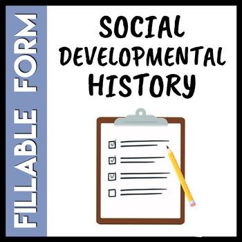 **Editable** Social History Intake Form
