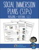 Social Immersion Plans Versions 1, 2, 3 Arguing