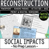 Social Impacts of Reconstruction, US Civil War